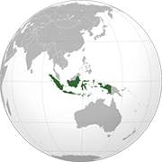 world globe with Indonesia highlighted