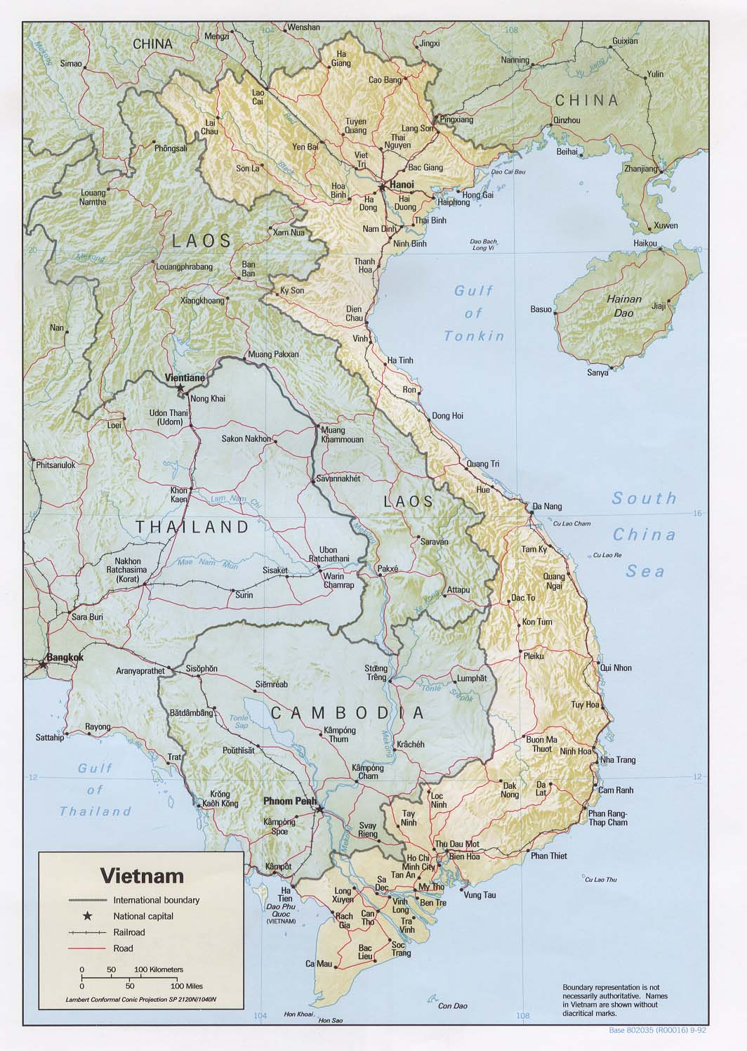 Vietnam Map Council On Southeast Asia Studies At Yale